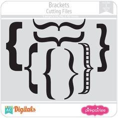 Brackets #pinkpaislee #scrapbooking #DIY