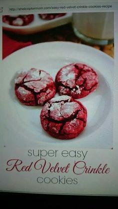 Red velvet crackle cookies