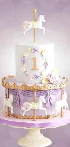 Pastel Carousel Cake …