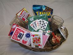 Poker Night Gift Basket ... @Cassandra Guild Johnson - would you be willing?