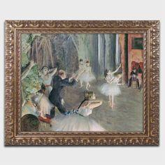 The Rehearsal of the Ballet by Edgar Degas Framed Painting Print