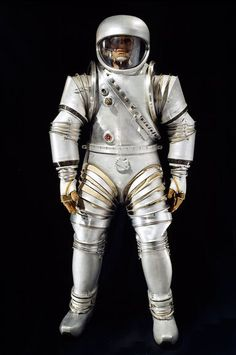 """Hard-Body Moonwalker    This """"hard suit"""" made by Litton Industries in the early 1960s was designed to protect Apollo astronauts during lunar extravehicular activities—aka moonwalks. But the suit was ultimately scrapped by NASA in favor of a softer design made by ILC Dover."""