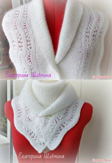 Белый шарф-снуд - Страна Мам