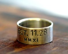 Personalized sterling silver ring by monkeysalwayslook on Etsy, $72.00