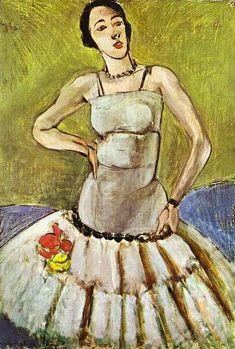'El bailarín de ballet, la armonía en los colores Gris', oleo de Henri Matisse (1869-1954, France)
