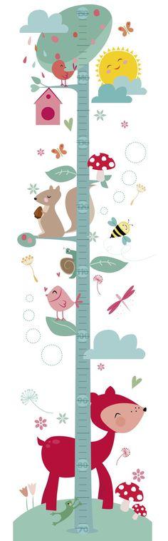 100% divinura! Y 100% piñatizables cada uno de los personajes!!!  Medidor infantil Height Chart, Charts For Kids, Girl Themes, Baby Album, Cross Stitch Baby, Baby Play, Nursery Design, Cute Illustration, Classroom Decor