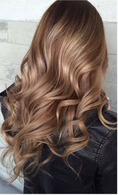 Color Hairstyles Prepossessing Balayage On Long Hair Blonde Highlights With Curled Hairstyle