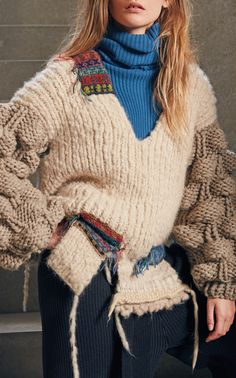 Oversized Sweater With Patches by TUINCH for Preorder on Moda Operandi