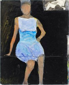 Richard Diebenkorn was a well-known 20th century American painter. His early work is associated with Abstract expressionism and the Bay Area Figurative Movement of the 1950s and 1960s. Some say he couldn't do faces or hands.