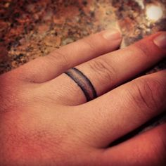 Wedding Ring Tattoos Wedding band tattoo - Here are some matching tattoo ideas for sisters. Do you love your sister? Are you both fond of tattoos? Then look at these exciting options. Wedding Ring Tattoo For Men, Wedding Date Tattoos, Custom Wedding Rings, Band Tattoos For Men, Tattoo Band, Tattoos For Guys, Tattoo Ringe, Band Tattoo Designs, Simple Wedding Bands