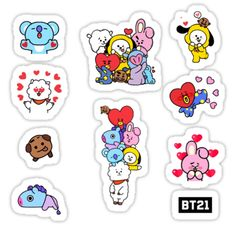 Bts Pegatinas Pegatina Dise o con 10 adhesi Kpop Stickers, Korean Stickers, Diy Stickers, Printable Stickers, Tumbler Stickers, Kpop Diy, Bts Drawings, Bts Chibi, Aesthetic Stickers
