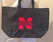 Nebraska Husker Tote Football Volleyball Lincoln Bag - pinned by pin4etsy.com
