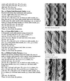 STITCHES - Traditional Aran Stitches (2/2)