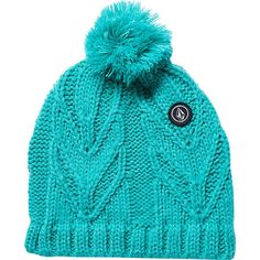 Volcom Leaf Beanie ($18) ❤ liked on Polyvore featuring accessories, hats, volcom beanie, volcom hat, volcom and beanie hats