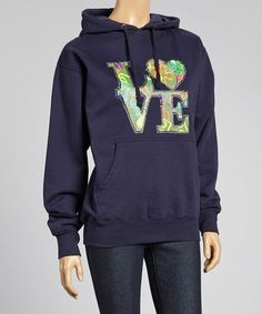 Another great find on #zulily! Sweet Girl Navy 'Love' Hoodie by Sweet Girl #zulilyfinds