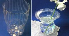 Váza z plastovej fľaše - Dobré rady a nápady
