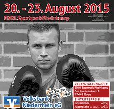 80 Boxer kämpfen vom 20. – 23. August in Moers um die internationalen U21-Titel. Nordrhein-Westfalen stellt die größte Mannschaft.