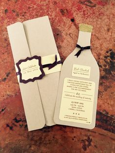 """Invitation to """"Aged to Perfection"""" party for my husband's 60th birthday."""