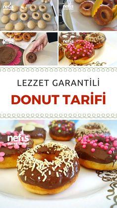 donut cake Donut Tarifi - En Garantili ve Tam ll - Nefis Yemek Tarifleri Flan, Dark Chocolate Brownies, Peppermint Brownies, Healthy Donuts, Shugary Sweets, Donut Recipes, Doughnut, Bakery, Yummy Food