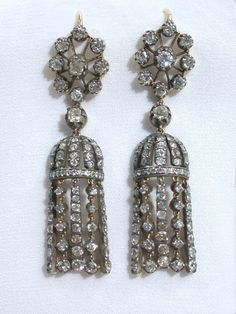 Antique Diamond Tassel Motif Earrings, these are gorgeous! Love the dangle sparkle!