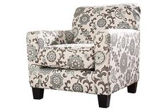 Ashley Furniture Shoshana Accent Chair. Love this pattern. Very pretty.