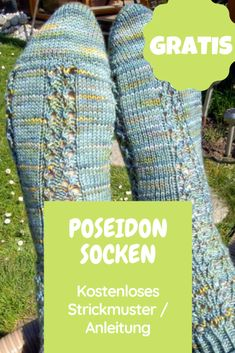 Poseidon-Socken: Kostenlose Anleitung / Strickmuster – Awesome Knitting Ideas and Newest Knitting Models Knitting Websites, Knitting Blogs, Knitting Wool, Knitting Socks, Knitting Projects, Hand Knitting, Baby Knitting Patterns, Crochet Snowman, Learn How To Knit