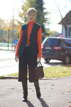 Orange and Black... and Culottes again... with boots this time