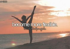 I am actually much more flexible than the average person, but now where I want to be yet