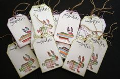 Cricut pattern bunny tags