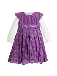 2-częściowy komplet dla dziewczynki - sukienka i biała koszulka z długim rękawem 89 PLN   #sales #limango #moda #dzieci #zakupy