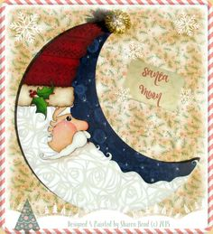 Designed and painted by Sharon Bond; E-Pattern includes: color photo, supply list, tracing pattern, and painting instructions. All parts sold separately. Painted Christmas Ornaments, Christmas Crafts, Christmas Ideas, Christmas Boxes, Christmas Canvas, Christmas Patterns, Christmas Wood, Christmas 2019, Christmas Decorations