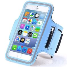 Apple iPhone 6 Plus Sports Gym Armband Case Key Running Jogging Sky Blue in Cell Phones & Accessories, Cell Phone Accessories, Armbands | eBay