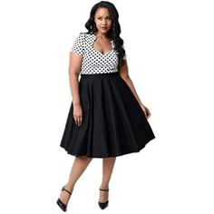 Kilolone Women s Plus Size 50s Vintage Classic Pinup Rockabilly Swing Dress  -- Read more at c4541481c863