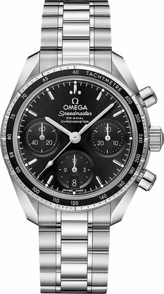 Omega Speedmaster 38 Co-Axial Chronograph 38 mm Omega Speedmaster Co Axial, Omega Co Axial, Omega Seamaster, Amazing Watches, Cool Watches, Rolex Watches, Omega Railmaster, Omega Aqua Terra, Omega Planet Ocean