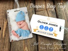 Personalized Diaper bag tag - Photo diaper bag tag - design your own…