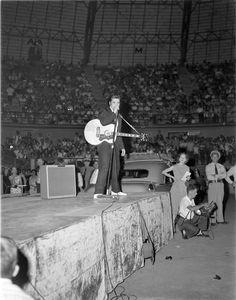 Elvis Presley on October 14, 1956 in San Antonio, Texas