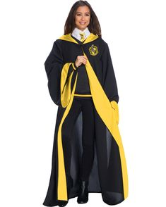 Deluxe Hufflepuff Student Costume for Adults - Hogwarts Harry Potter Halloween Costumes, Harry Potter Cosplay, Harry Potter Outfits, Hogwarts Costume, Hogwarts Uniform, Adult Costumes, Costumes For Women, Capa Harry Potter, Hufflepuff Students