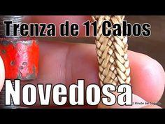 "Novedosa trenza de 11 Cabos ""El Rincón del Soguero"" - YouTube Weaving Designs, Weaving Art, Paracord Bracelets, Bracelet Tutorial, Knots, Diy And Crafts, Braids, Crochet, Leather"