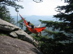 Room for two. ENO DoubleNest Hammock. Great for your outdoor adventures at your favorite campsites.