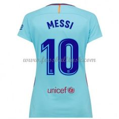 3804ff0f3ea6a2 Günstige Barcelona Damen Fußballtrikots 2017-18 Lionel Messi 10  Auswärtstrikot Kurzarm