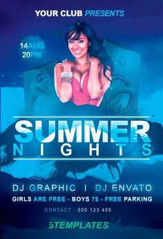 Free Summer Nights Flyer PSD Template - http://freepsdflyer.com/free-summer-nights-flyer-psd-template/ Enjoy downloading the Free Summer Nights Flyer PSD Template crated by KlarensM! #City, #Club, #Dance, #Event, #House, #Music, #Night, #Nightclub, #Nights, #Party, #Summer, #Sun