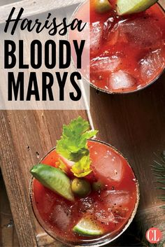 """Kick off your festivities with this fun take on the classic brunch beverage. Molly likes to boost her version with harissa, a traditional Tunisian chile paste with a spicy, pleasantly bitter edge. """"I just love those flavors,"""" she explains, """"and they're not common around Grand Forks, North Dakota. I really like being able to introduce a new ingredient like harissa to my community through a more familiar thing like a Bloody Mary."""" 