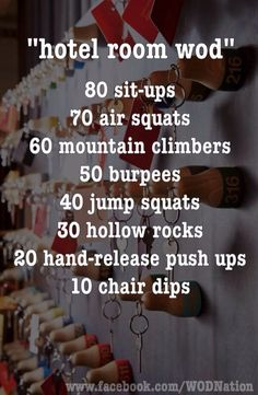Exercise for hotel room, etc.
