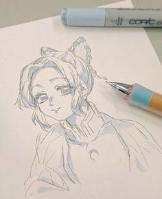 Demon Slayer: Kimetsu no Yaiba, Giyu / Shinobu, Giyu Tomioka / きめつつついろぐ 10 - pixiv Badass Drawings, Anime Drawings Sketches, Anime Sketch, Cute Drawings, Human Body Drawing, Manga Drawing, Demon Slayer, Slayer Anime, Anime Eyes