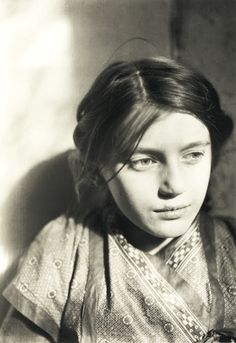 "Portrait of Lina Franziska ""Fränzi"" Fehrmann (1910), - she was an adolescent model and muse of ""Die Brücke"" artists Ernst Ludwig Kirchner, Erich Heckel and Max Pechstein. Photo: E. L. Kirchner"