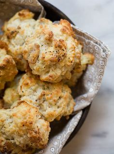 Bacon and Blue Cheese Drop Biscuits // www.acozykitchen.com