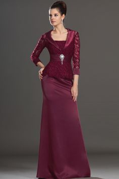 eDressit Elegant Wine Lace Mother of the Bride Dress Day Dress Long Sleeve Evening Gowns, Evening Dresses, Formal Dresses For Women, Elegant Dresses, Day Dresses, Bridal Dresses, Burgundy Bridesmaid Dresses, Beaded Prom Dress, Dress Prom