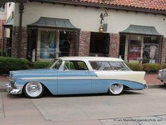 Carmel California Ocean Avenue Car show, 56 wagon
