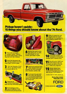 1974 Ford F100 Pickup Advertisement Photo Picture