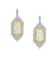 A pair of #diamond ear #pendants #christiesjewels